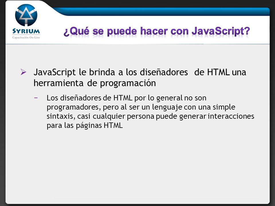 ¿Qué se puede hacer con JavaScript