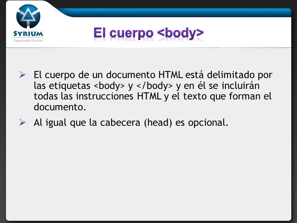 El cuerpo <body>