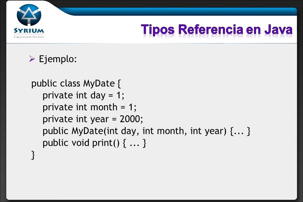 Tipos Referencia en Java