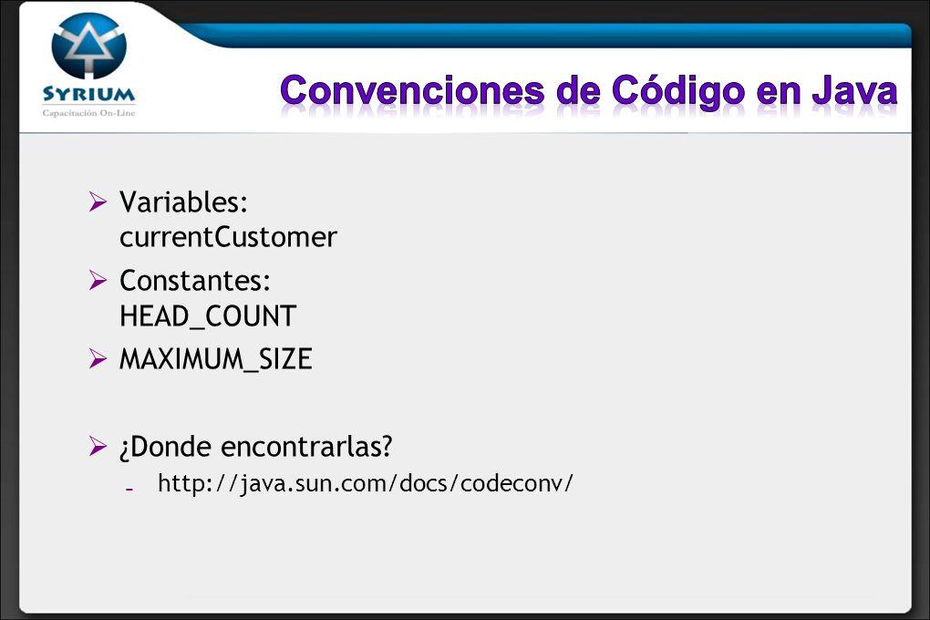 Convenciones de Código en Java