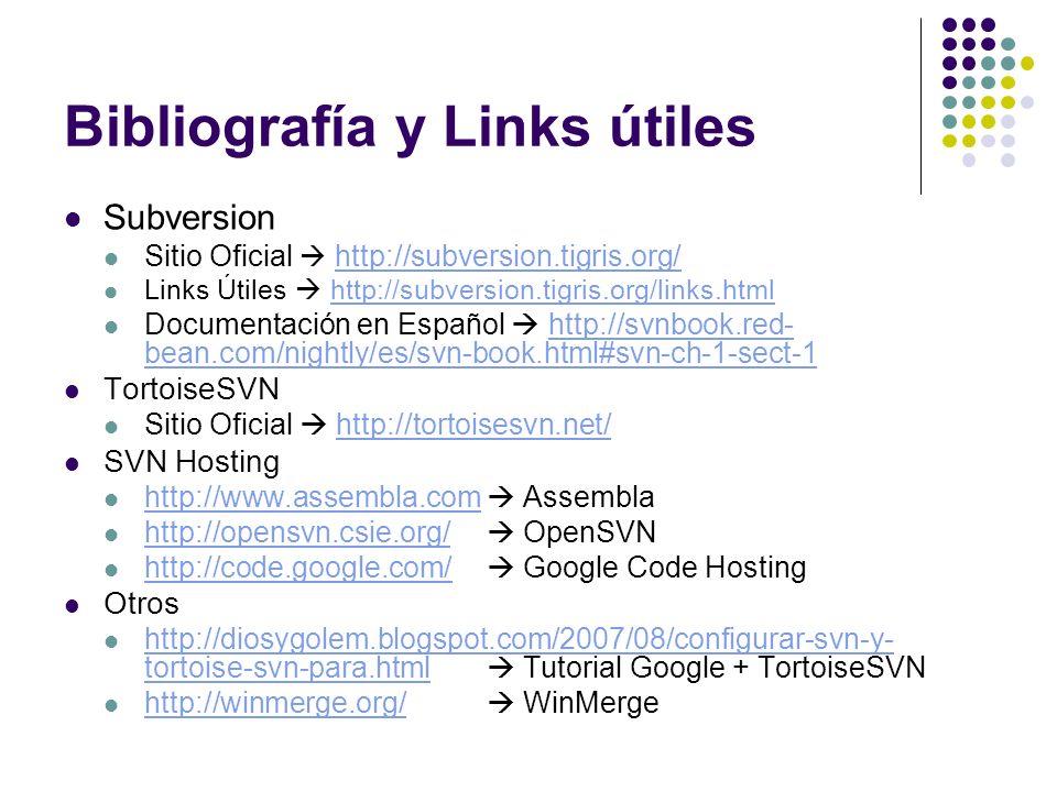 Bibliografía y Links útiles