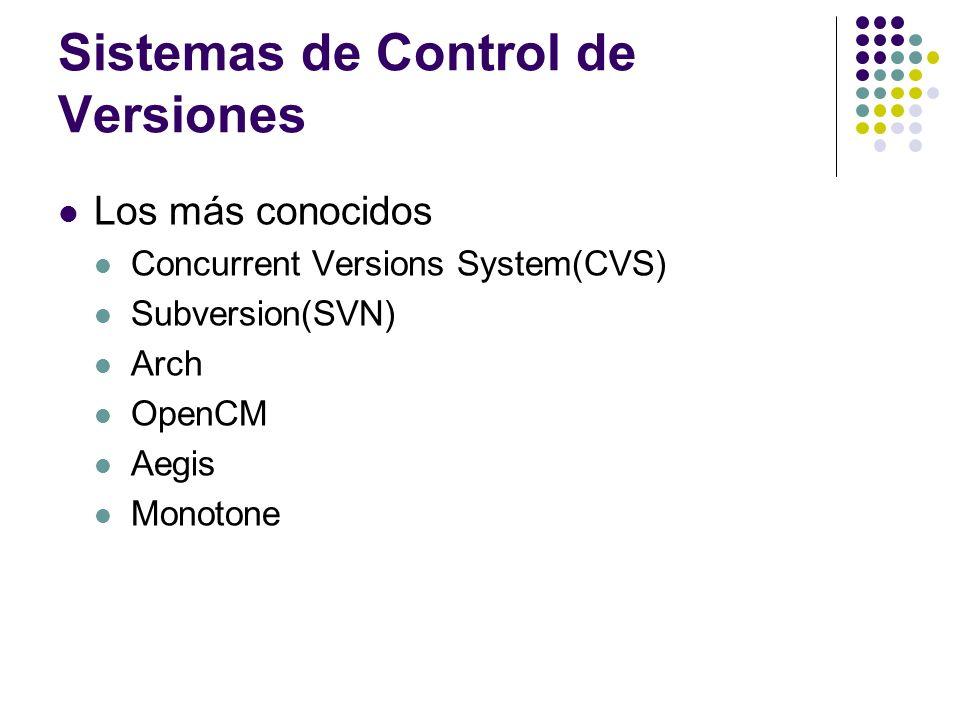 Sistemas de Control de Versiones