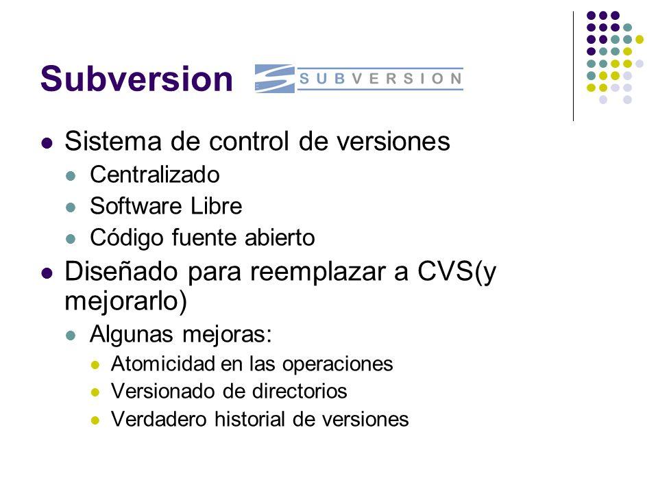 Subversion Sistema de control de versiones