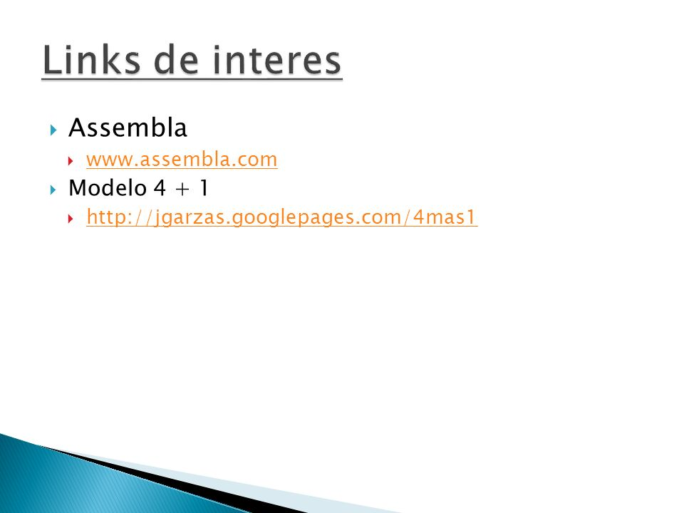 Links de interes Assembla Modelo 4 + 1 www.assembla.com