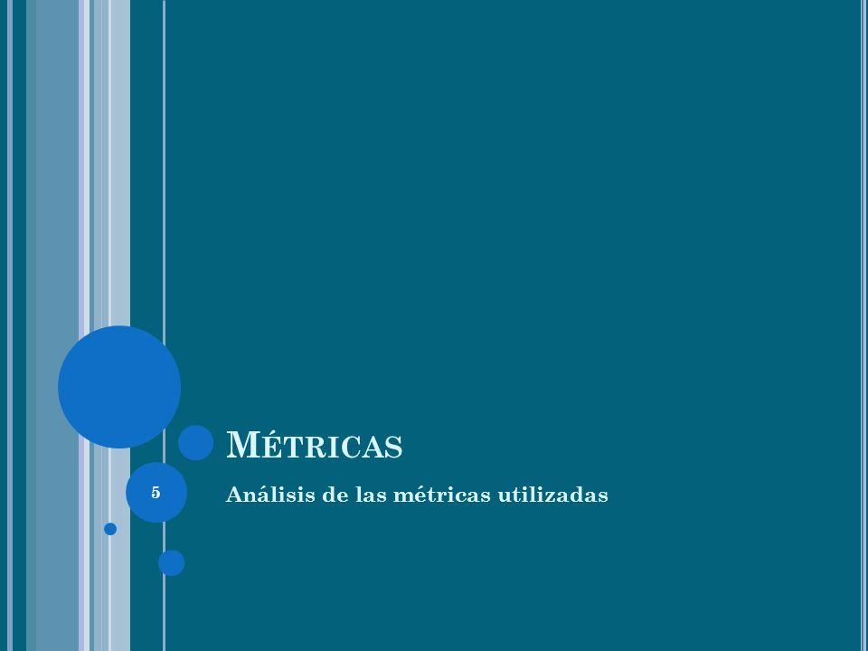 Métricas Análisis de las métricas utilizadas