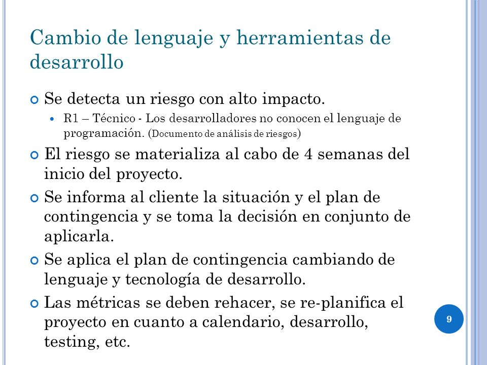 Cambio de lenguaje y herramientas de desarrollo