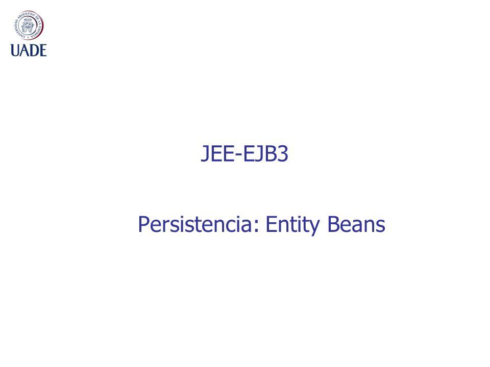 Persistencia: Entity Beans