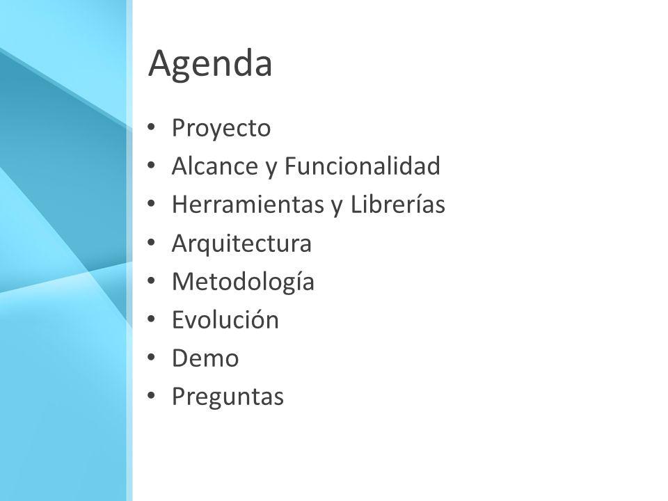 Agenda Proyecto Alcance y Funcionalidad Herramientas y Librerías