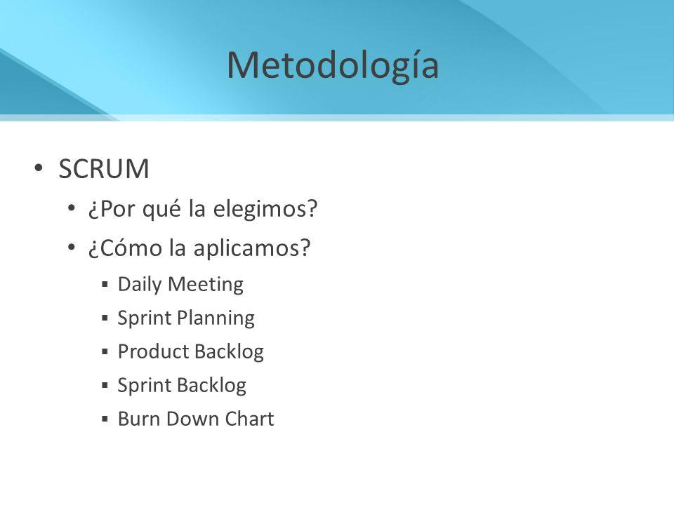 Metodología SCRUM ¿Por qué la elegimos ¿Cómo la aplicamos
