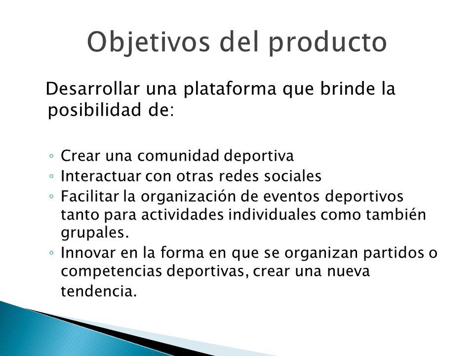 Objetivos del producto