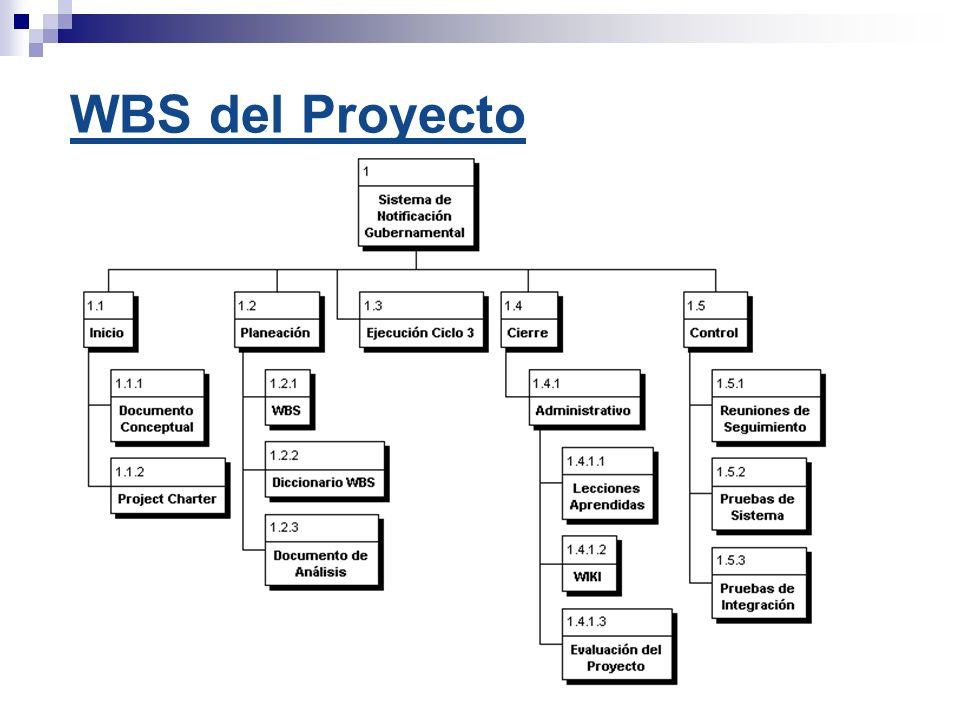 WBS del Proyecto