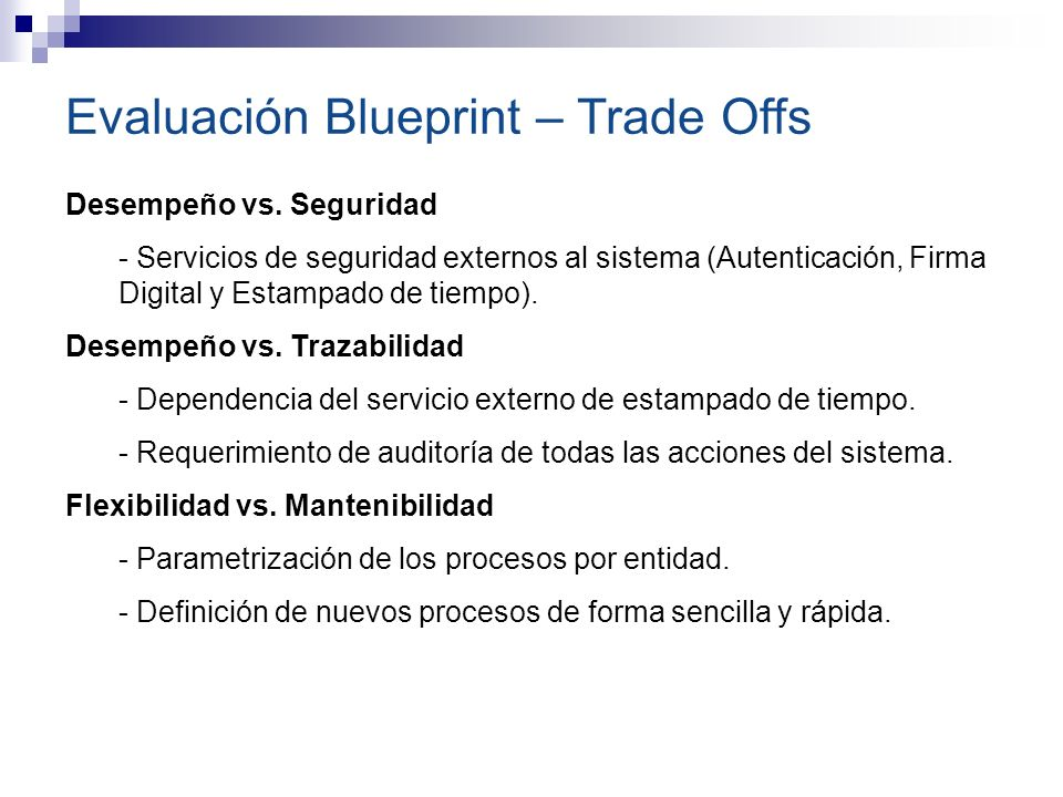 Evaluación Blueprint – Trade Offs