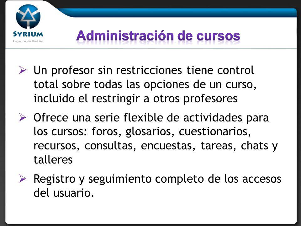 Administración de cursos