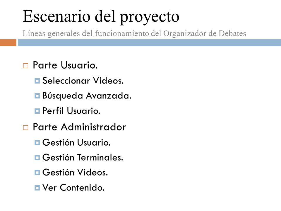 Escenario del proyecto