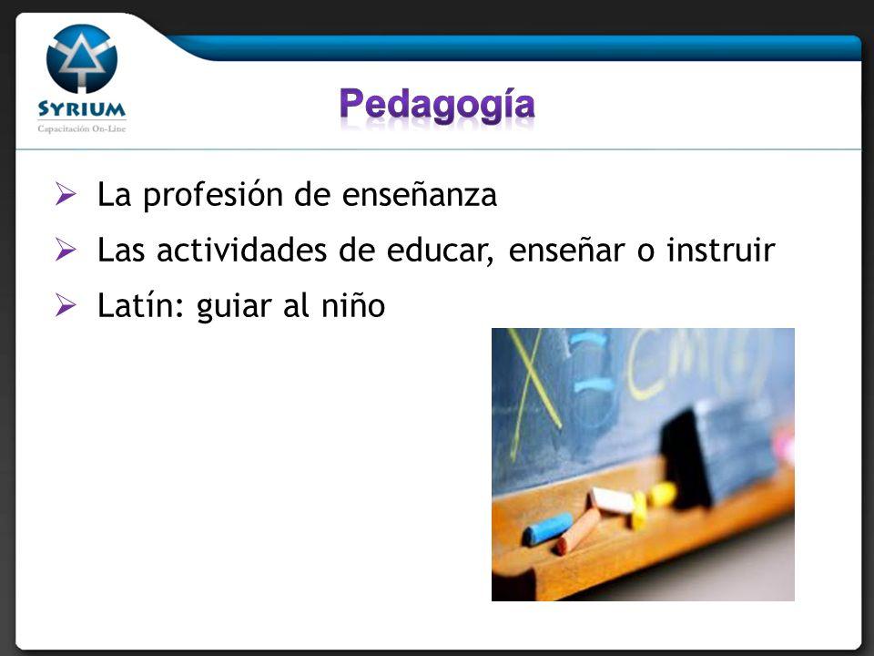 Pedagogía La profesión de enseñanza