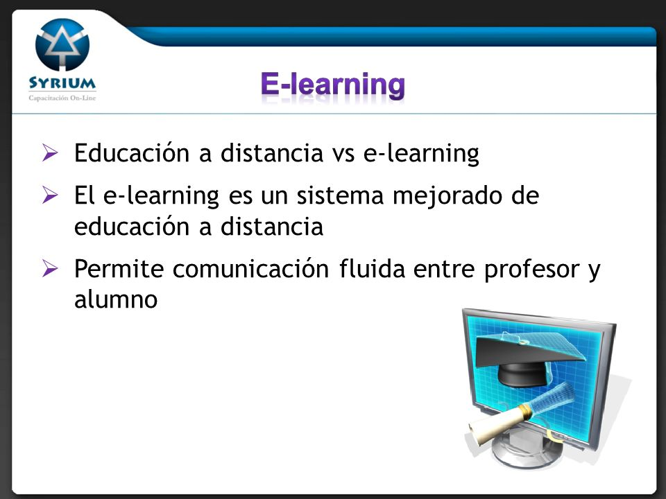 E-learning Educación a distancia vs e-learning