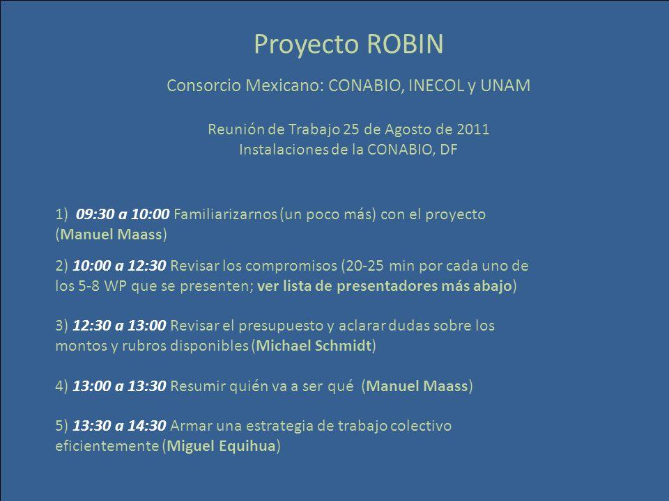 Proyecto ROBIN Consorcio Mexicano: CONABIO, INECOL y UNAM