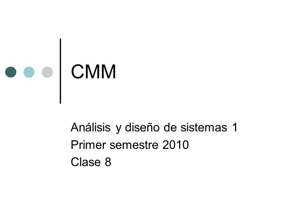 Análisis y diseño de sistemas 1 Primer semestre 2010 Clase 8