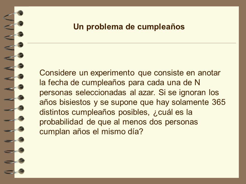 Un problema de cumpleaños