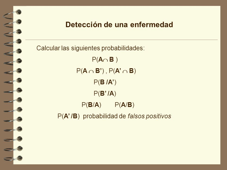 Detección de una enfermedad