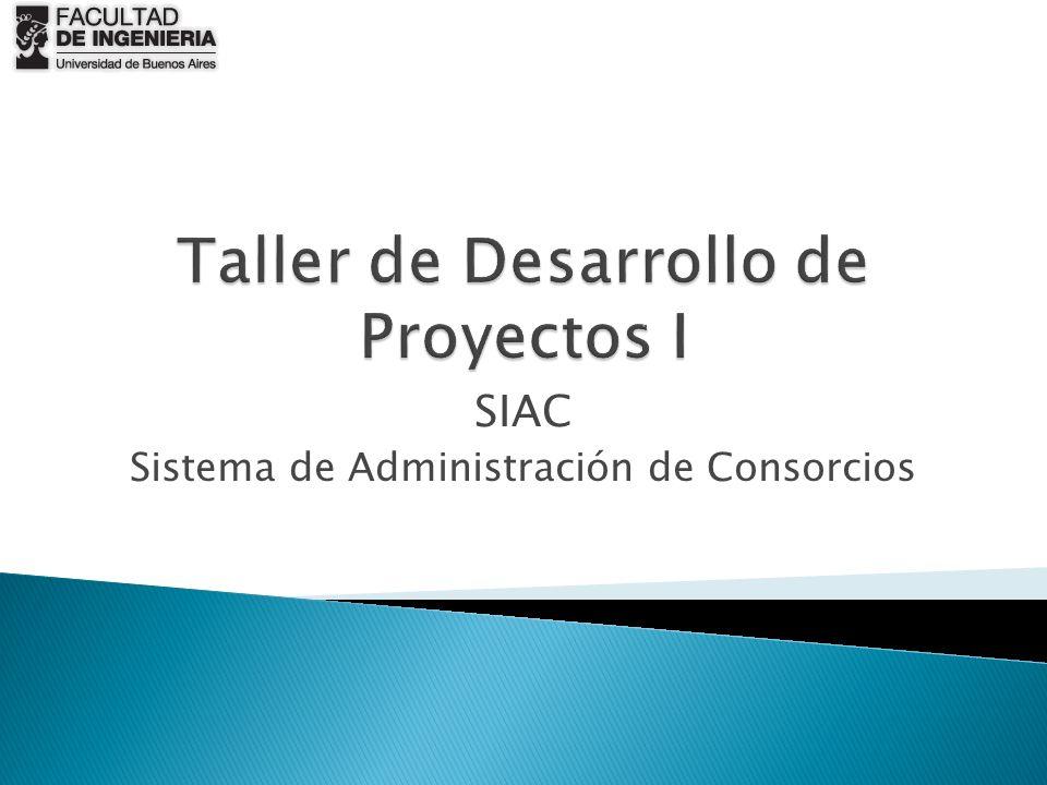 Taller de Desarrollo de Proyectos I