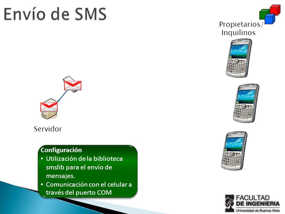 Envío de SMS Propietarios/ Inquilinos Servidor Configuración