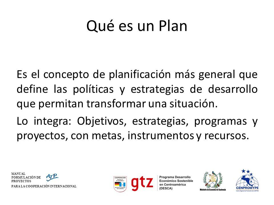 Qué es un Plan
