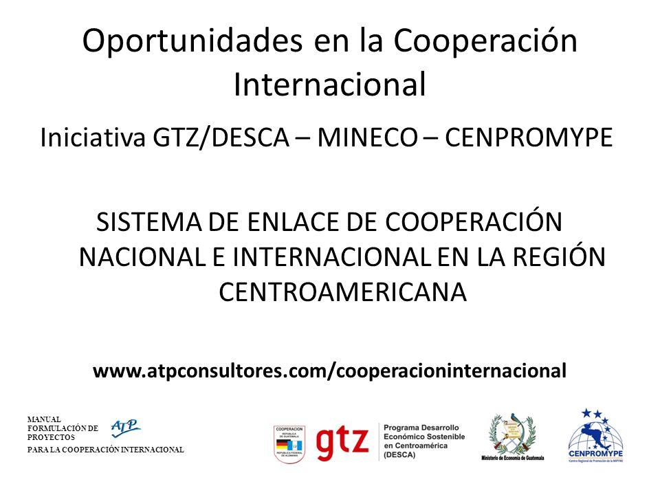 Oportunidades en la Cooperación Internacional