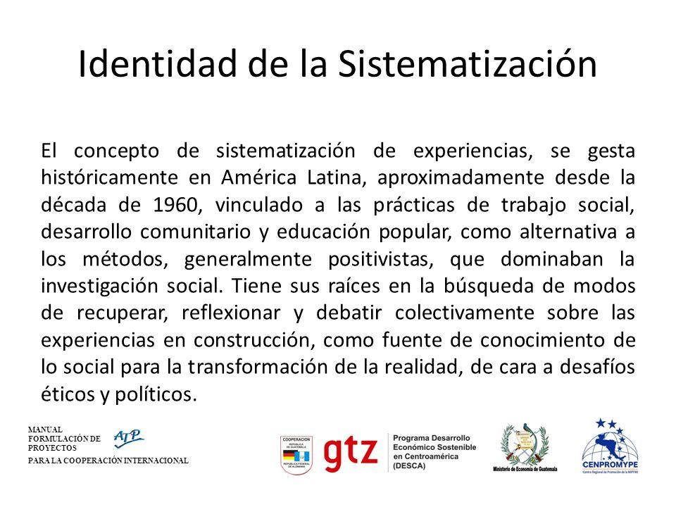 Identidad de la Sistematización