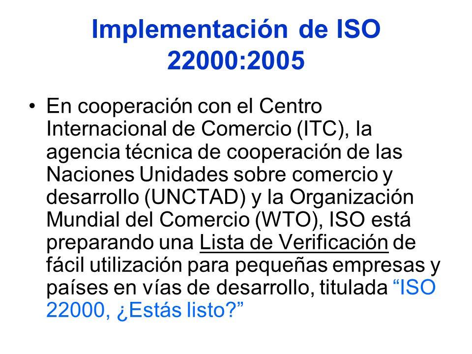 Implementación de ISO 22000:2005