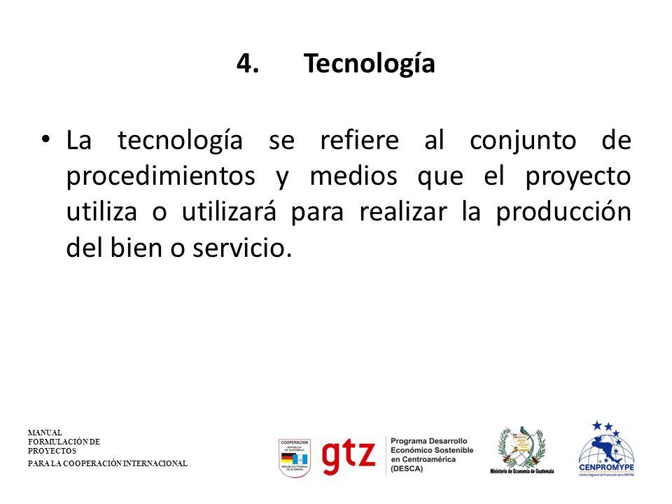 4. Tecnología