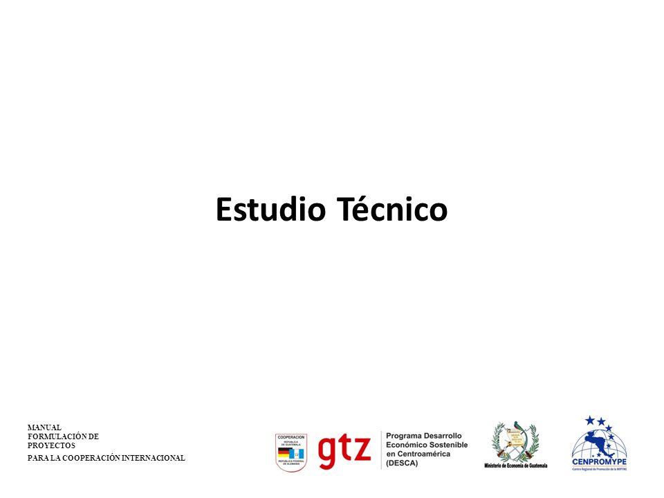 Estudio Técnico MANUAL FORMULACIÓN DE PROYECTOS
