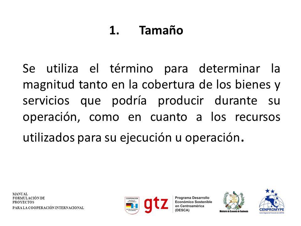 1. Tamaño