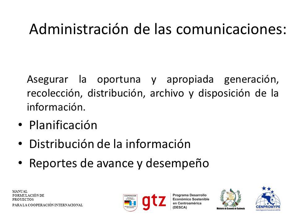 Administración de las comunicaciones: