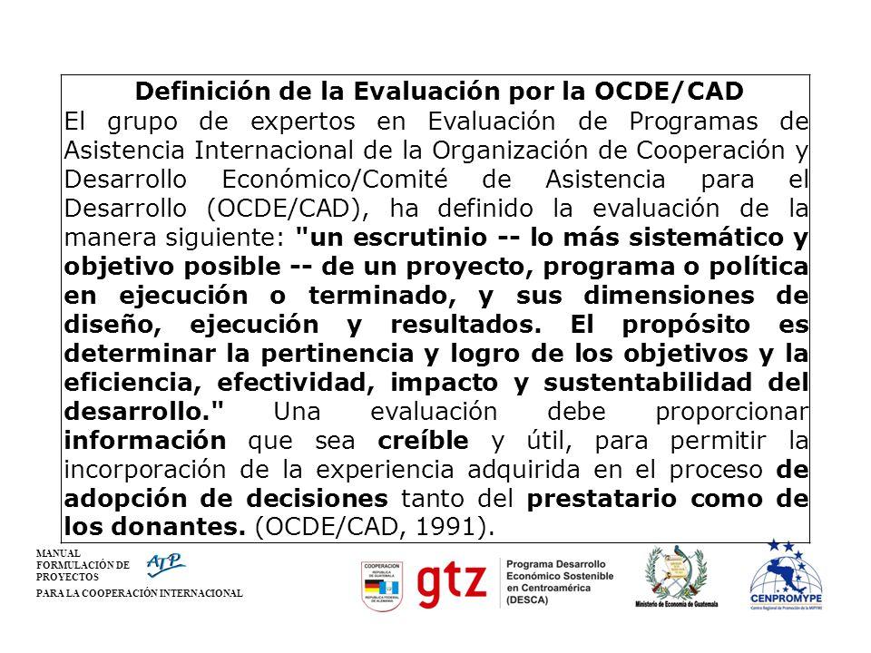 Definición de la Evaluación por la OCDE/CAD