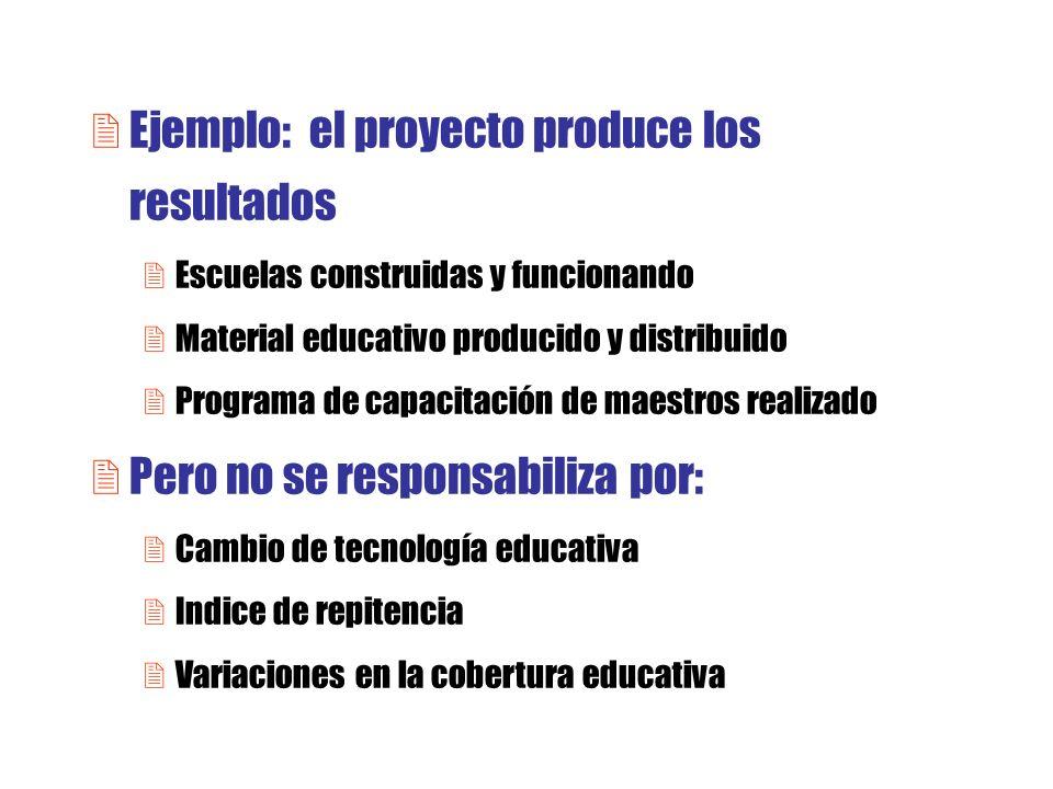 Ejemplo: el proyecto produce los resultados