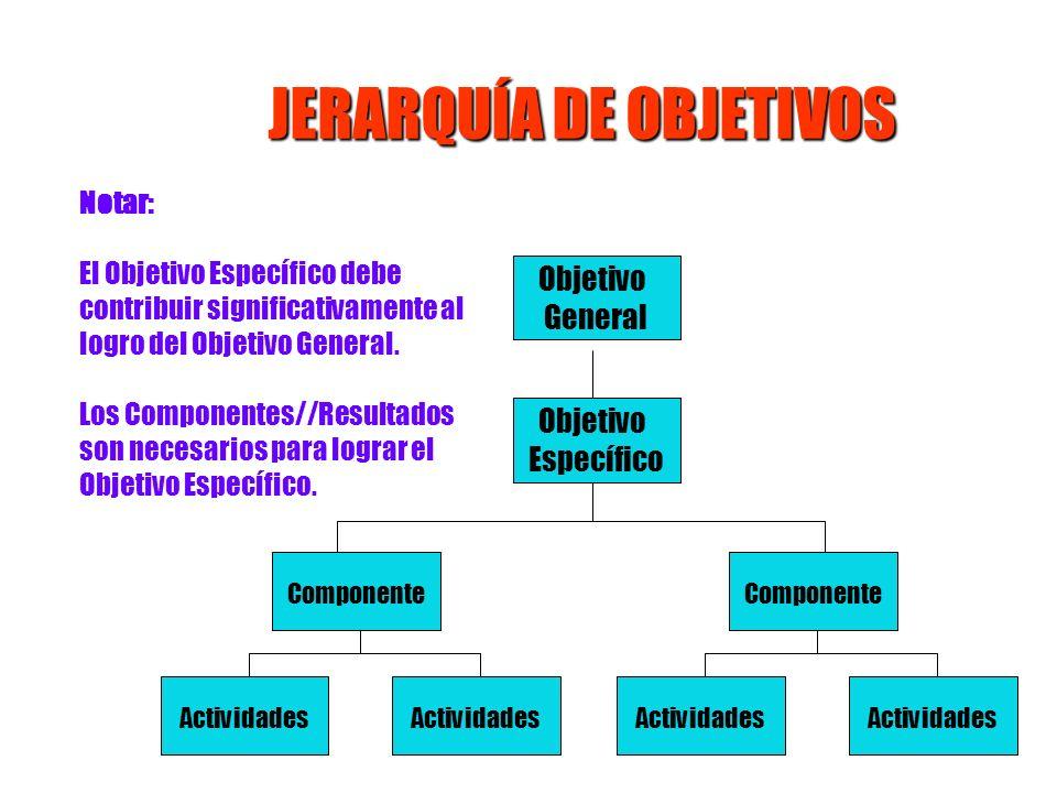 JERARQUÍA DE OBJETIVOS