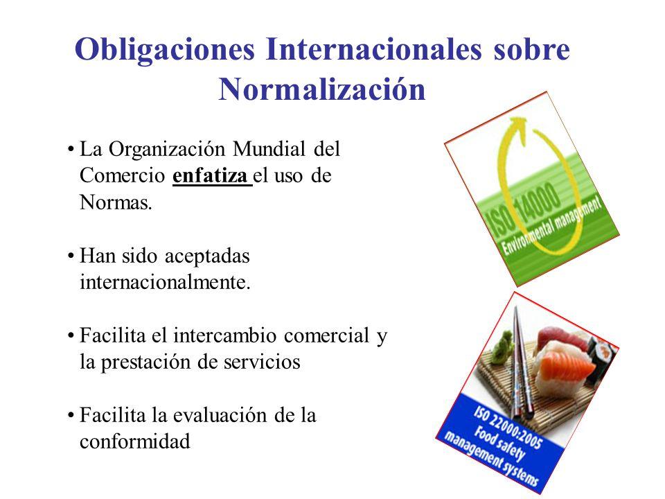Obligaciones Internacionales sobre Normalización