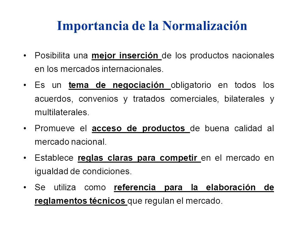Importancia de la Normalización