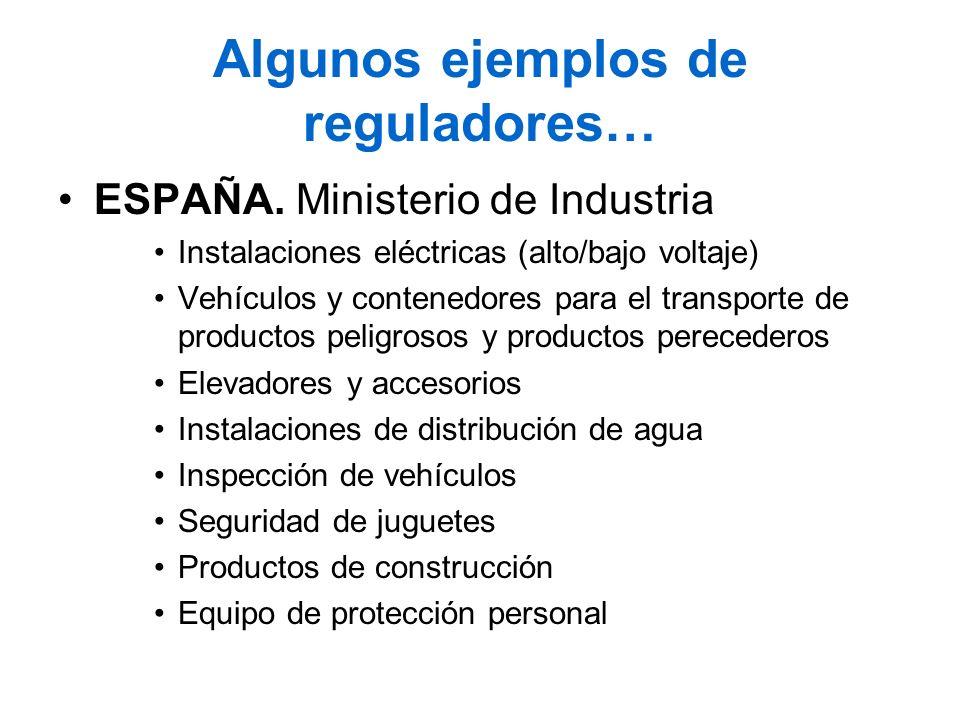 Algunos ejemplos de reguladores…