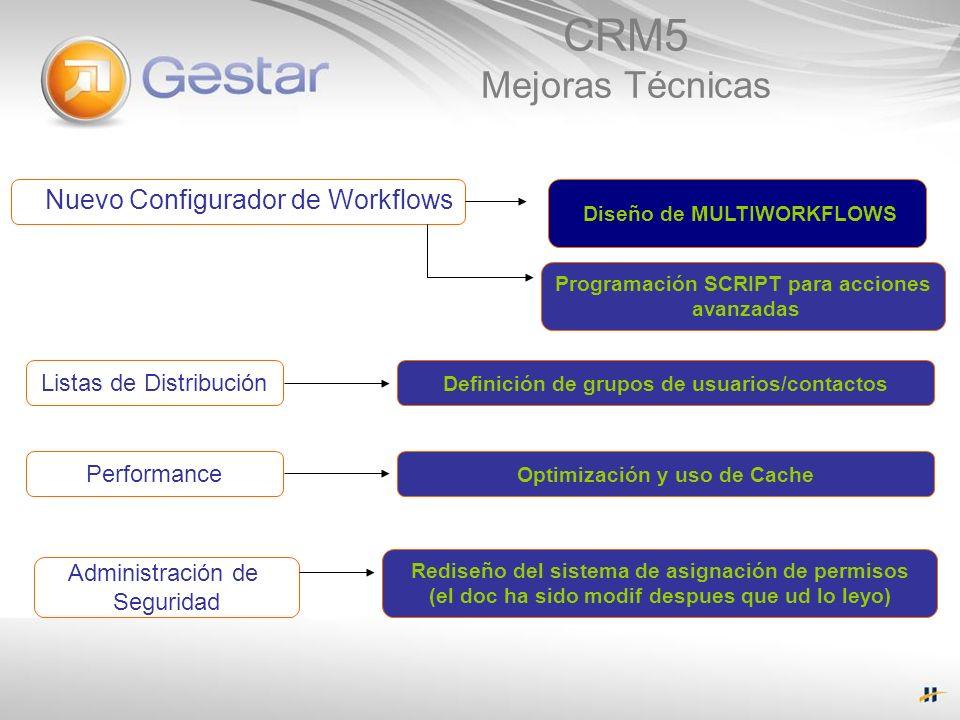 CRM5 Mejoras Técnicas Nuevo Configurador de Workflows