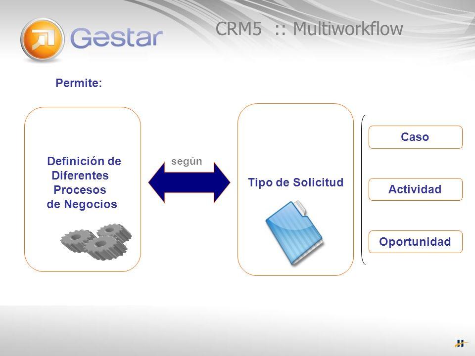 CRM5 :: Multiworkflow Permite: Caso Definición de Diferentes