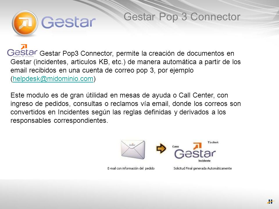 Gestar Pop 3 Connector
