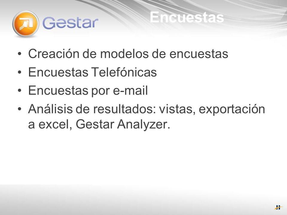 Encuestas Creación de modelos de encuestas Encuestas Telefónicas