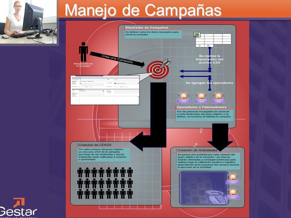 Manejo de Campañas Cómo funciona una campaña Cada campaña posee un responsable. Este puede ser una persona o un equipo de marketing.