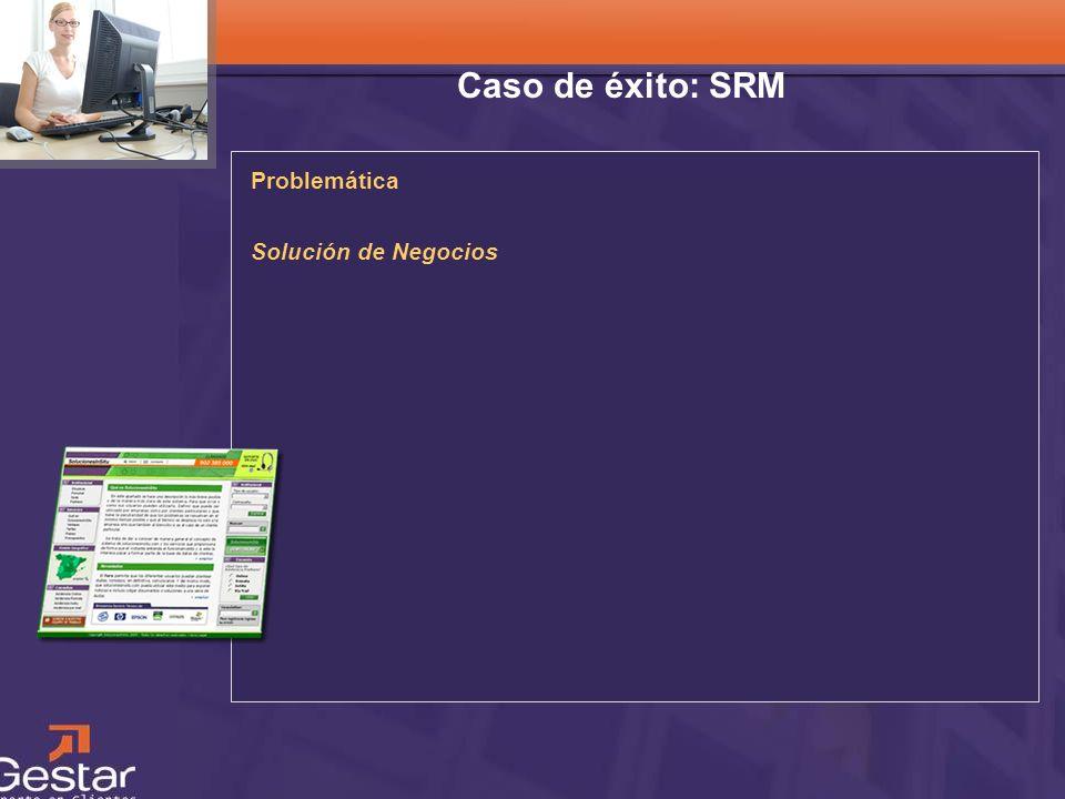Caso de éxito: SRM Problemática Solución de Negocios