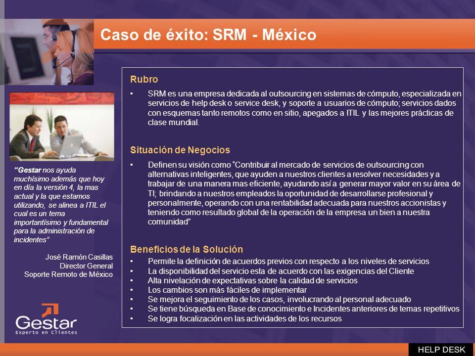 Caso de éxito: SRM - México
