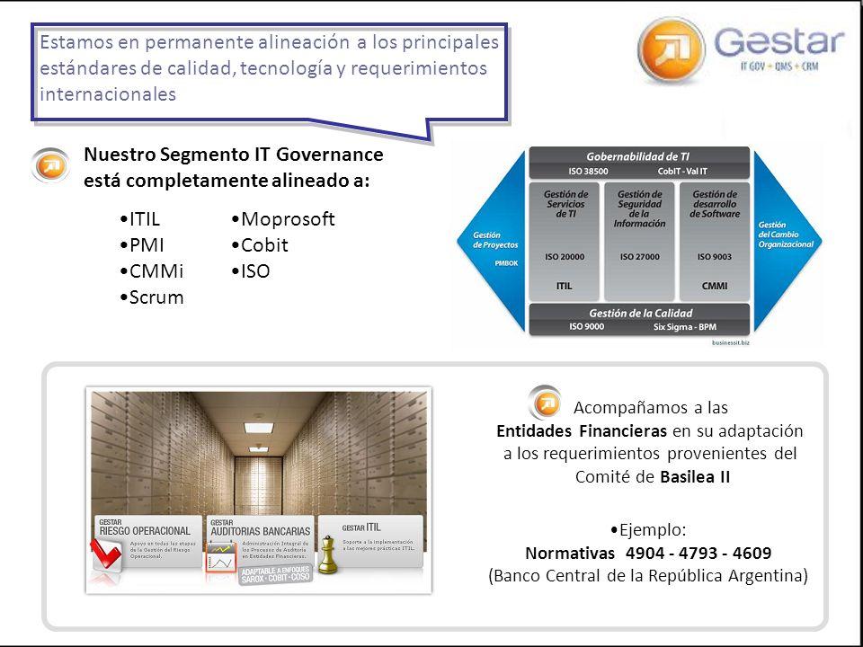 Nuestro Segmento IT Governance está completamente alineado a:
