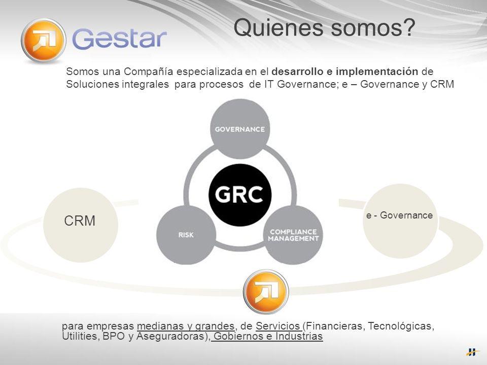 Quienes somos Somos una Compañía especializada en el desarrollo e implementación de.