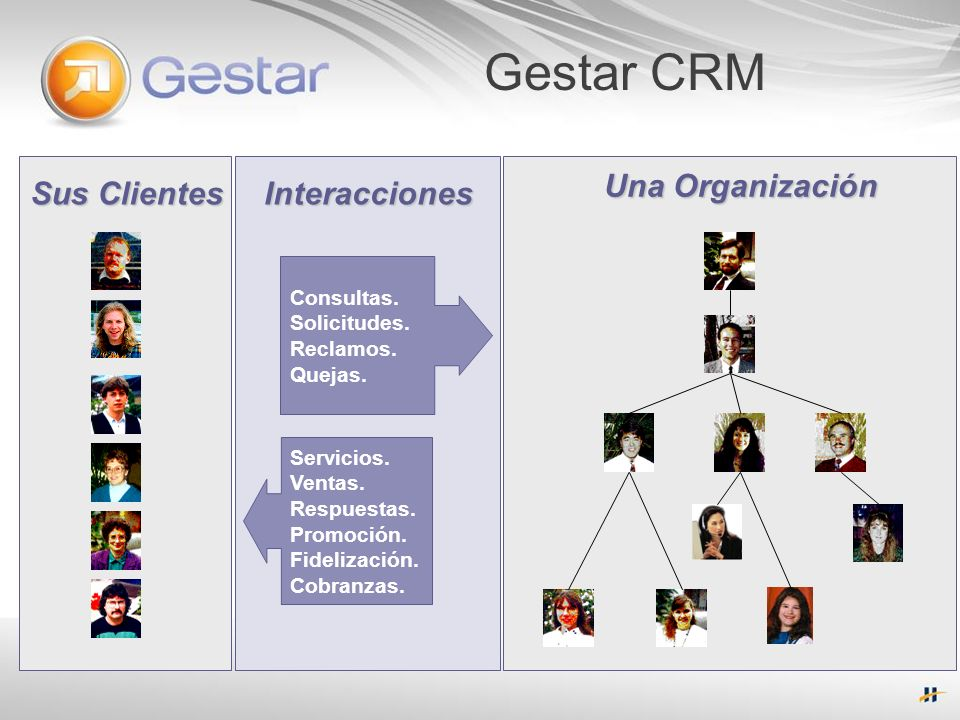 Gestar CRM Una Organización Sus Clientes Interacciones Consultas.